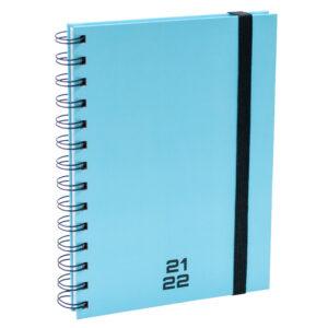 Agenda A5 Spiraal pastel blauw 2021 - 2022