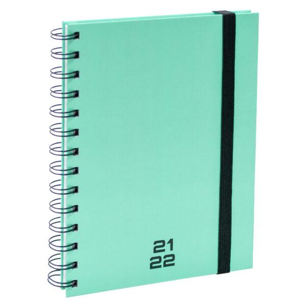 Agenda A5 Spiraal pastel groen 2021 - 2022