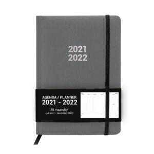 Schoolagenda A5 Planner Grey 2021 - 2022