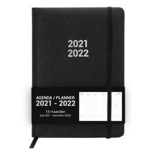 Schoolagenda A5 Planner Black 2021 - 2022