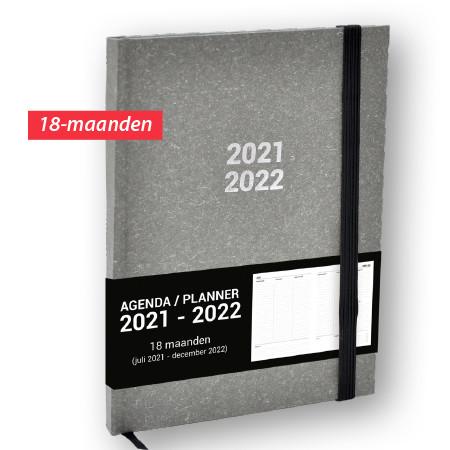 Schoolagenda A5 Planner Nature Grijs 2021 - 2022