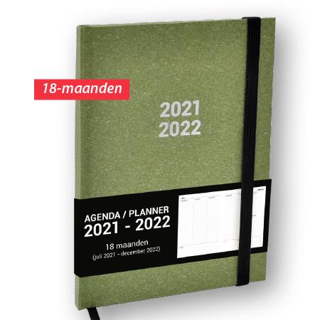 Schoolagenda A5 Planner Nature Groen 2021 - 2022