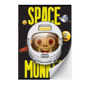 Schrift A4 lijn Emoji Space Monkey 2pak