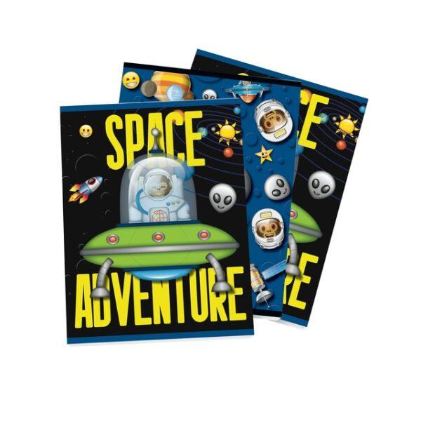 Schrift A5 lijn Emoji Space Monkey 3pak