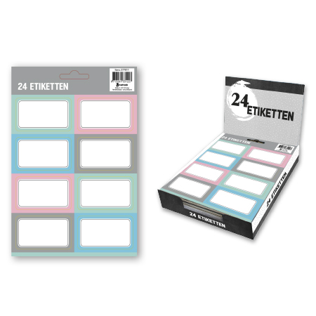 Etiketten Pastel 24 stuks