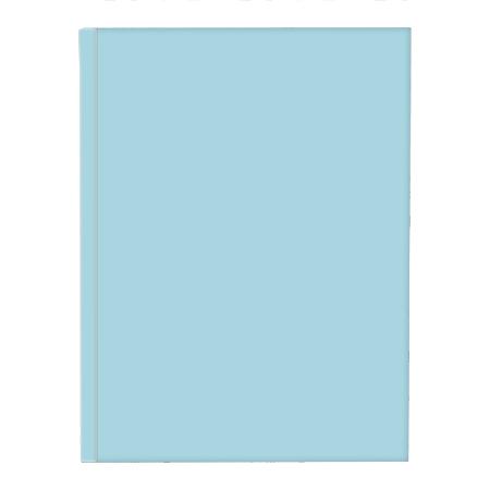 Schrift harde kaft A5 met lijn pastel blauw