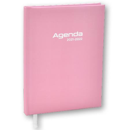 Schoolagenda A5 Pastel roze 2021 - 2022