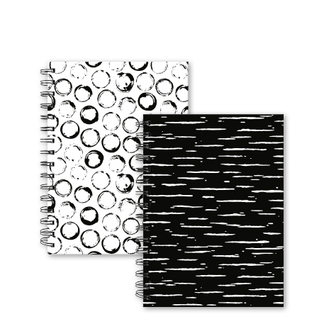 Dummyboek A5 harde kaft blanco vellen flow zwart