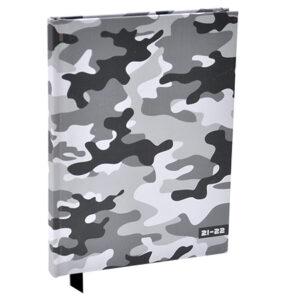 Schoolagenda A5 Camouflage Grijs 2021 - 2022