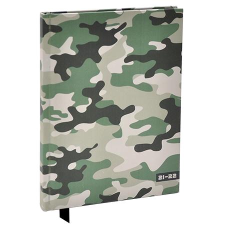 Schoolagenda A5 Camouflage Groen 2021 - 2022