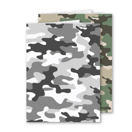 Schrift A4 lijn Camouflage 2 stuks