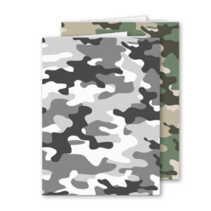 Schrift A4 ruit Camouflage 2 stuks
