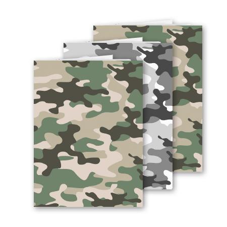 Schrift A5 lijn Camouflage 3 stuks