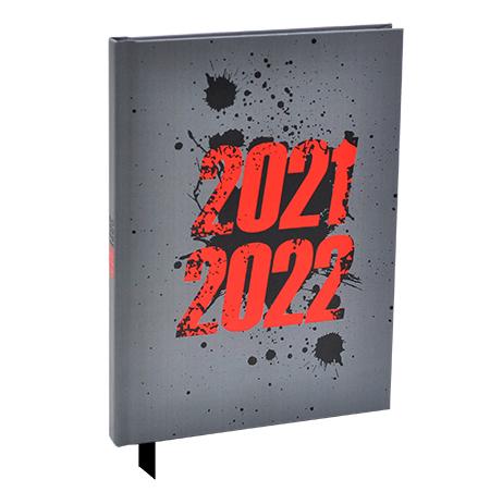 Schoolagenda A5 Adventure Donker Grijs 2021 - 2022