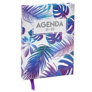 Schoolagenda A5 Tropical Wit 2021- 2022