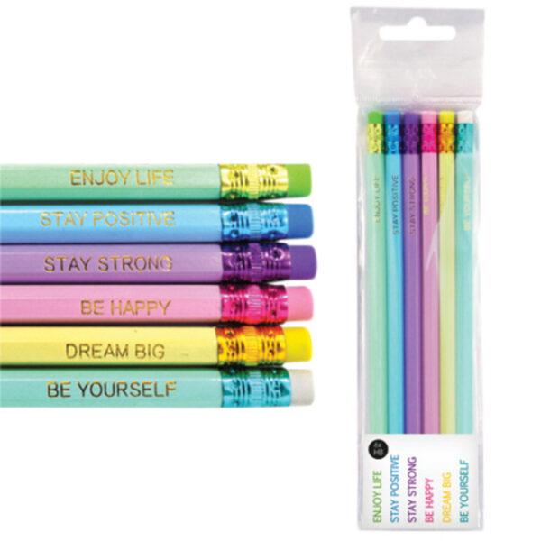 Potloden met gum pastelkleuren