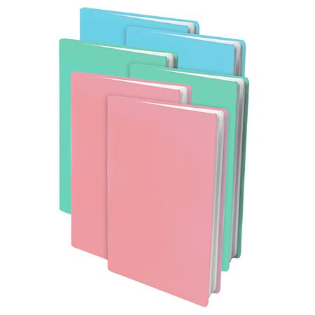 AKTIE: 6x Rekbare boekenkaft Pastel