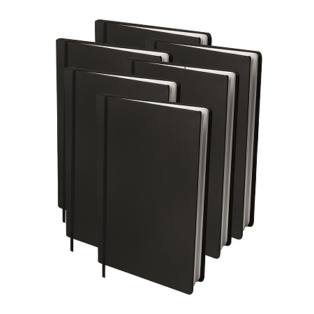 AKTIE: 6x Rekbare boekenkaft Zwart