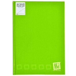 Dummyboek A4 harde kaft blanco vellen lime groen