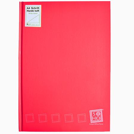 Dummyboek A4 harde kaft blanco vellen rood