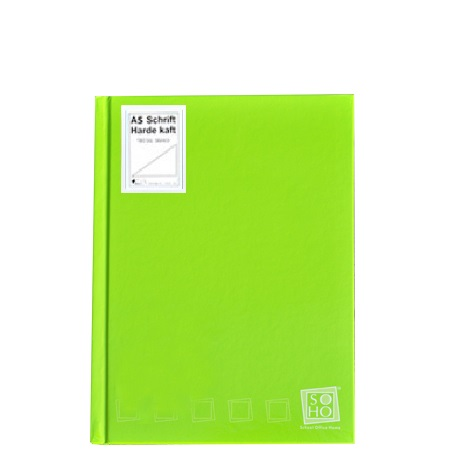 Dummyboek A5 harde kaft blanco vellen lime groen