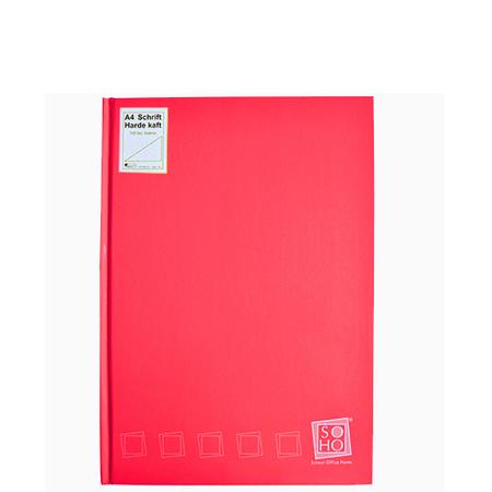 Dummyboek A5 harde kaft blanco vellen rood