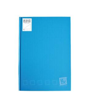 Dummyboek A5 harde kaft blanco vellen turquoise