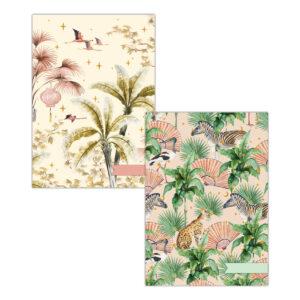Oriental Flamingo flight/ Sweet Jungle A4 schriftset