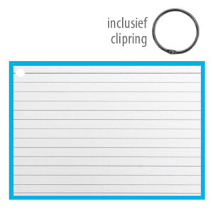 Flashcards A6 incl. clipring Blauw