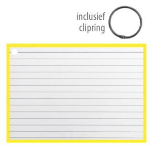 Flashcards A6 incl. clipring Geel