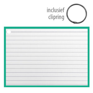 Flashcards A6 incl. clipring Groen