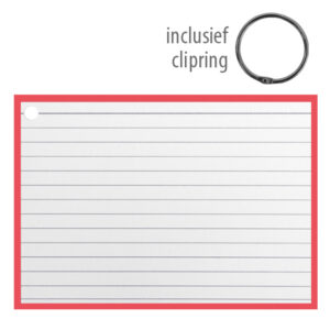 Flashcards A6 incl. clipring Rood