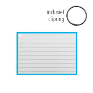 Flashcards A7 incl. clipring Blauw