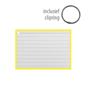 Flashcards A7 incl. clipring Geel