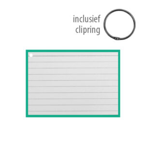 Flashcards A7 incl. clipring Groen