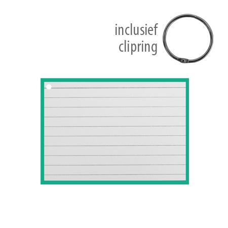Flashcards A7 incl. clipring Groen