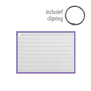 Flashcards A7 incl. clipring Paars