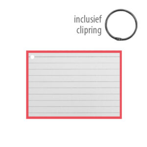 Flashcards A7 incl. clipring Rood