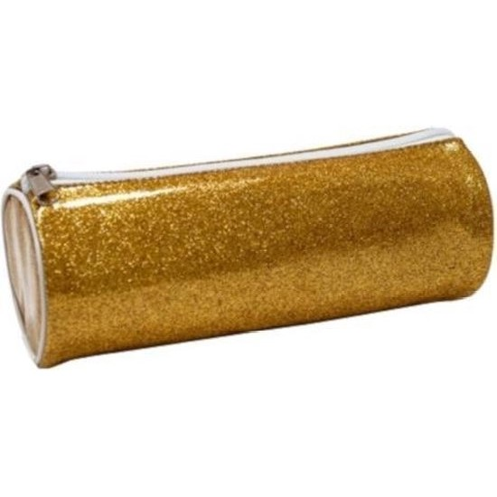 Glitter etui goud
