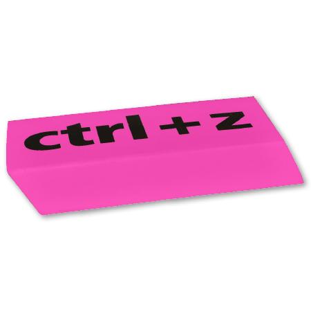 Gum XL CTRL+Z Roze