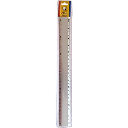 Liniaal 30cm aluminium