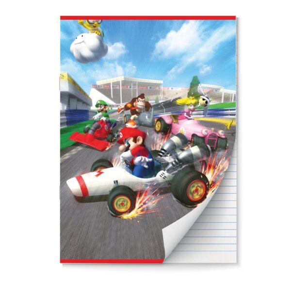 Schrift A4 lijn Mario Kart 2pak