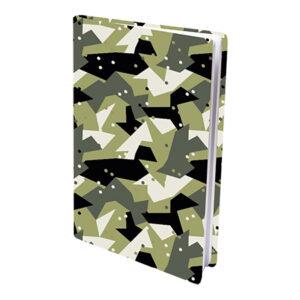 Rekbare boekenkaft A4 Army