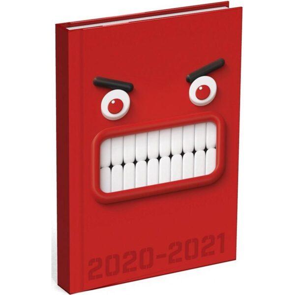 Schoolagenda Mixed Design Red Monster 2020 - 2021