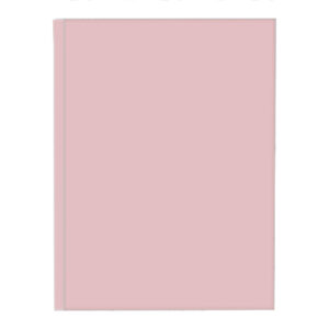 Schrift harde kaft pastel roze