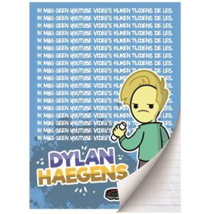 Schrift A4 lijn Dylan Haegens TEAM