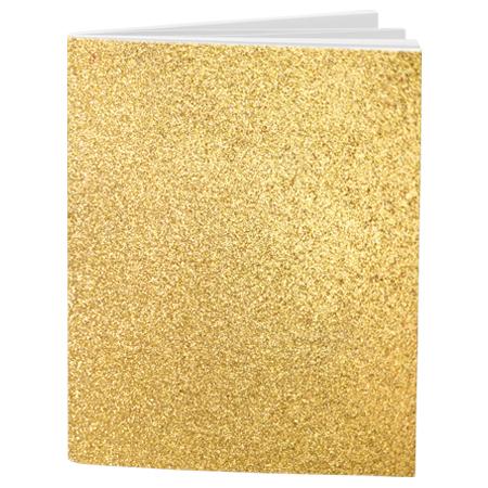 Schrift A4 lijn Glitter Gold