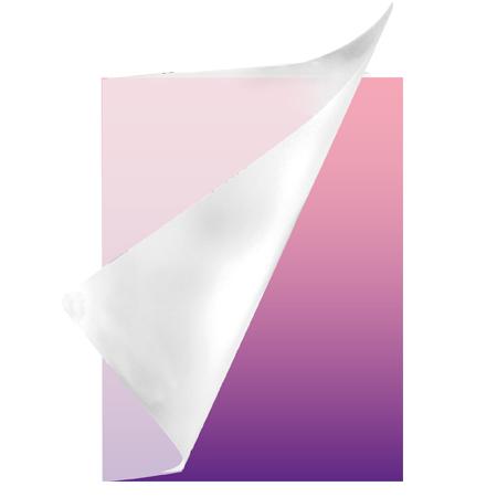 Schrift A4 lijn plastic Colorz paars