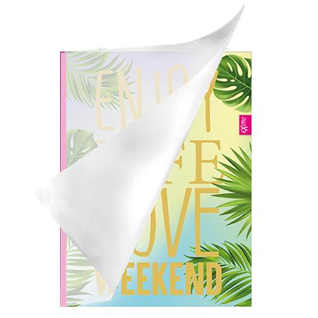 Schrift A4 lijn plastic Exotic