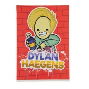 Schrift A4 ruit Dylan Haegens TEAM